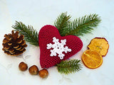 "Product Romantic Heart ""Winter Love"" Free Crochet Pattern by AramisvonK at http://thepatternfactory.net"