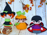 Product Picture Halloween-Trio: Witch, Pumpkin & Vampire – Crochet Pattern by AramisvonK at http://thepatternfactory.net