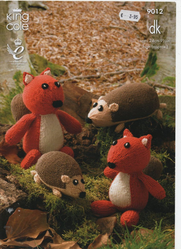 King Cole 9012 Hedgehog and Squirrel Knitting - Product picture
