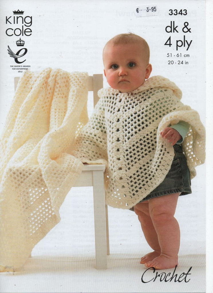King Cole 3343 - Poncho and Shawl - crochet - Product picture