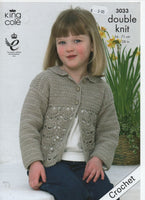 King Cole 3033 - Cardigan and Sweater - crochet - Product picture