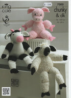 King Cole 7000 - Farmyard collection - Amigurumi - knit - Product picture