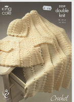 King Cole 3259 - Coat and more - crochet - Product picture