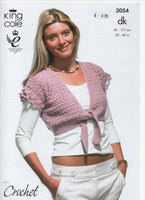 King Cole 3054 - Cardigan and top - crochet - Product picture