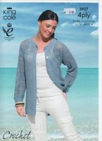 King Cole 3937 - Cardigans - crochet - Product picture
