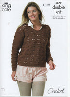 King Cole 3472 - Sweater - crochet - Product picture