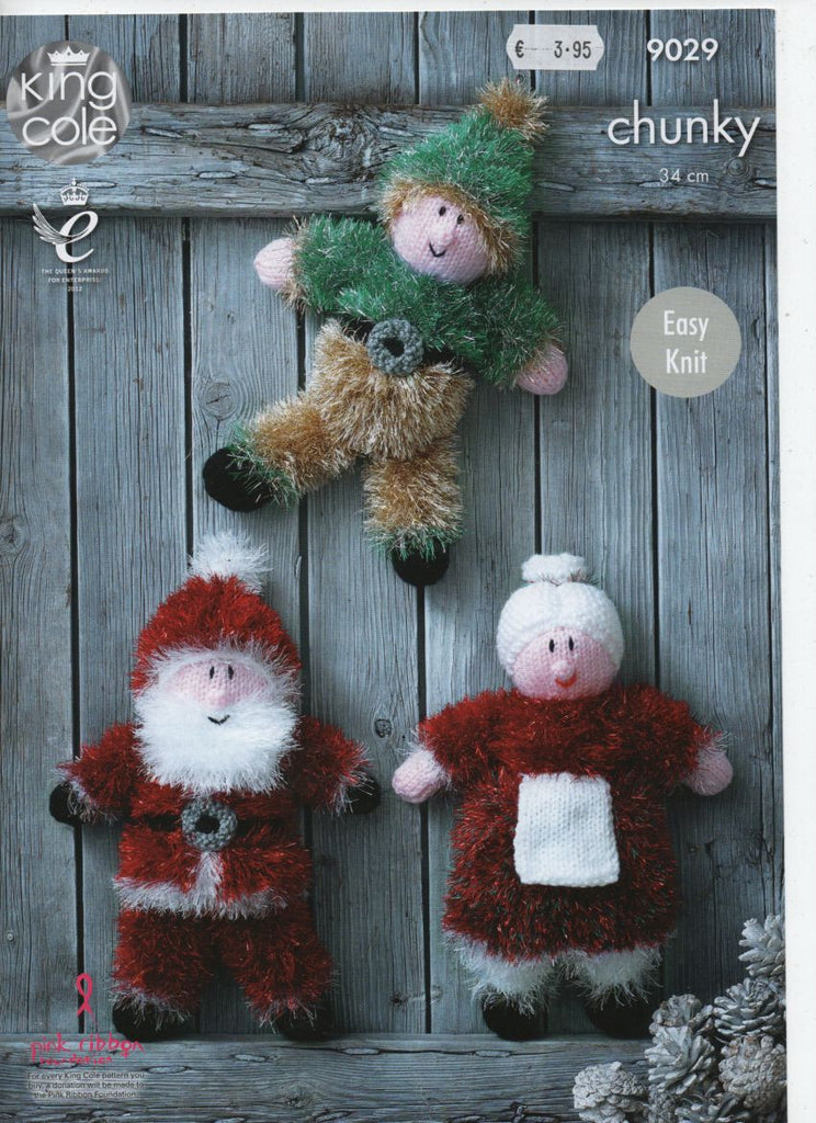King Cole 9029 - Tinsel Christmas Toys - knit - Product picture