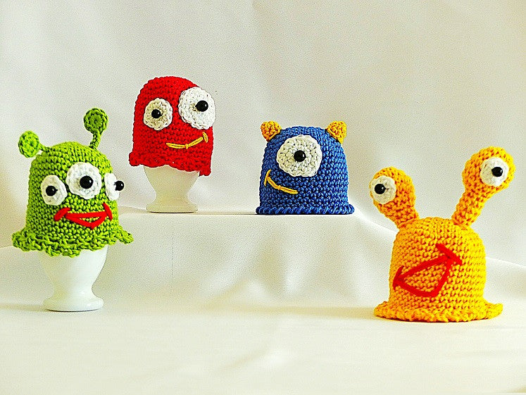 "Egg Cosy Crochet ""Funny Breakfast Monsters""  Pattern product picture"