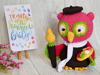Product picture Maurice the Marvelous Painter Owl by AramisvonK at http://thepatternfactory.net