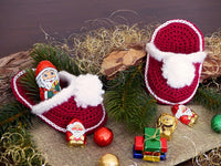 Product Santa's Slippers Crochet Pattern by AramisvonK at http://thepatternfactory.net