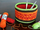 "Product Decorative Basket ""Autumn Colors"" Crochet Pattern by AramisvonK at http://thepatternfactory.net"