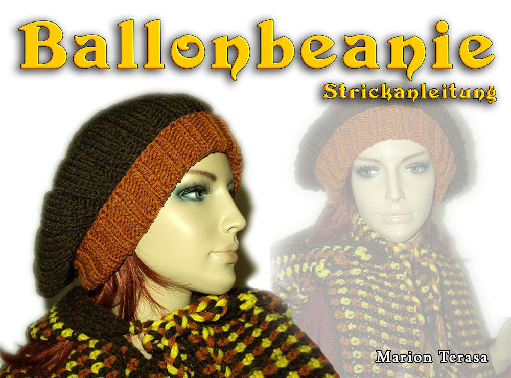 Balloon knit beanie - product picture - Wollopus - knitting pattern