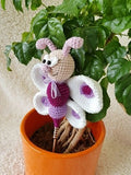 "Product picture Flower stick ""Frieda Butterfly"" by Die Maschentante at http://thepatternfactory.net"