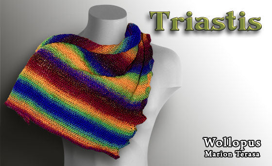 Nice tunisian scarf - crochet in Tunisian Technique - product picture - Wollopus - knitting pattern