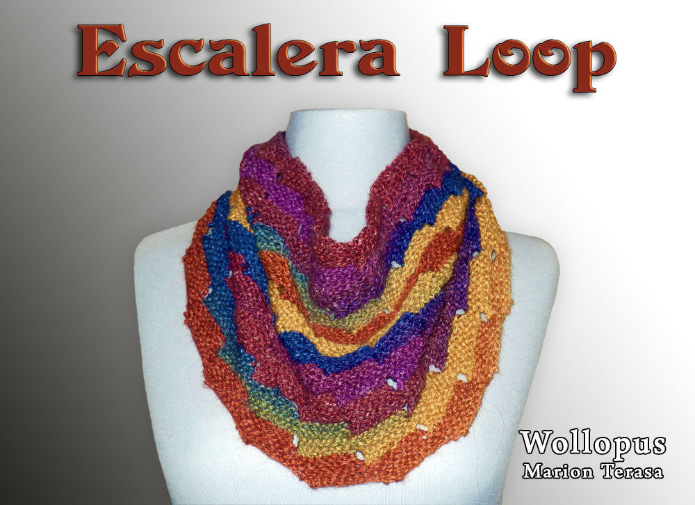 Escalera knit loop - product picture - Wollopus - knitting pattern