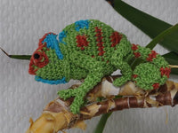 This Chamaeleon will be a real highlight in ... amigurumi crochet - lucygurumi - product picture