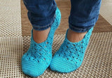 Product picture Home Shoes - Crochet Pattern by LeaLeem at http://thepatternfactory.net
