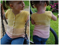 product picture Crochet pattern for a vest / short sleeve jacket for children (all sizes) by LeaLeem at http://thepatternfactory.net