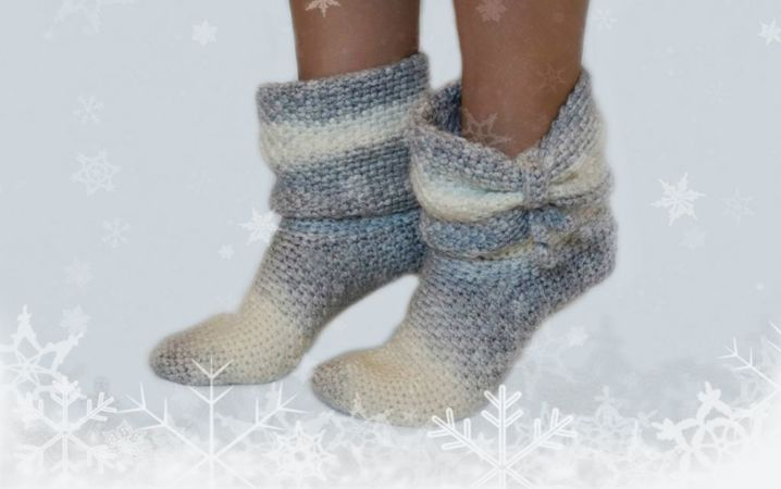 product picture Crochet pattern winter socks Size DEU 36-43  by LeaLeem at http://thepatternfactory.net