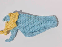 teddy scarf crochet - BerliDesign - product picture - crochet pattern baby bear teddybear