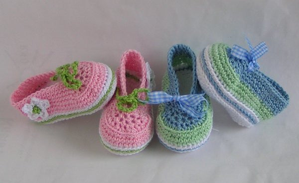 Baby Ballerinas laced - baby crochet Pattern - Product picture - lucygurumi