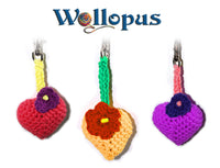 Crochet a Heart - free PDF Pattern crochet heart - product picture - Wollopus - knitting pattern