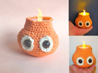 little candlelight crochet - BerliDesign - product picture -crochet pattern candle christmas deco