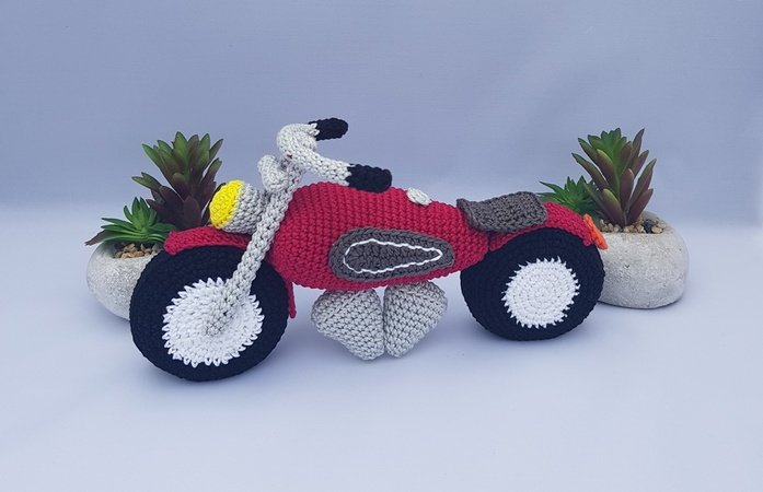 "Product picture Motor bike ""Hot Chopper"" by Die Maschentante at http://thepatternfactory.net"