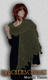 Dragon Tail knit scarf - product picture - Wollopus - knitting pattern