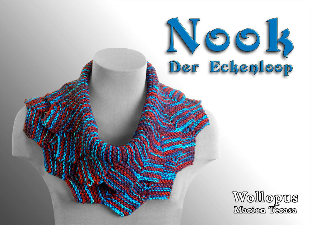 Nook - Knitted corner knit loop - product picture - Wollopus - knitting pattern