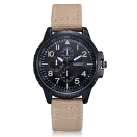 Men's Quartz Movement Army Watch Six-pin dial