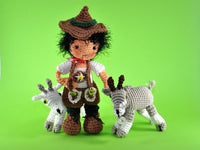 Doll Peter with Goat - Amigurumi Crochet - lucygurumi - Product picture