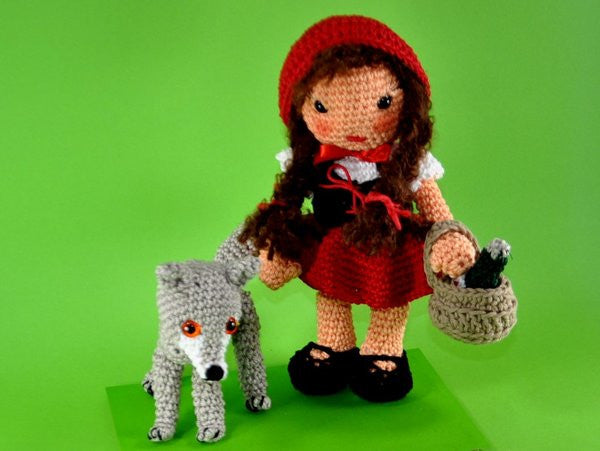 Little Red Riding Hood And The Wolf Amigurumi Crochet Pattern