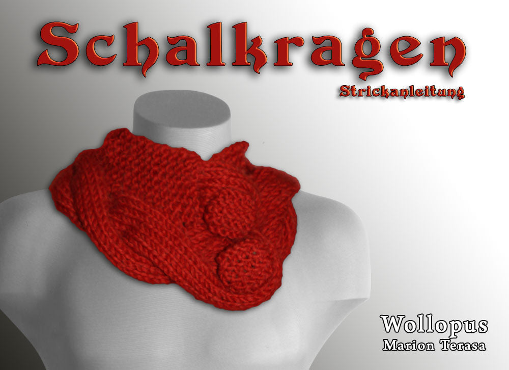 Collar Knit Scarf Self Knitted