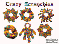 Crazy Scrunchies crochet scrunchie - product picture - Wollopus - knitting pattern