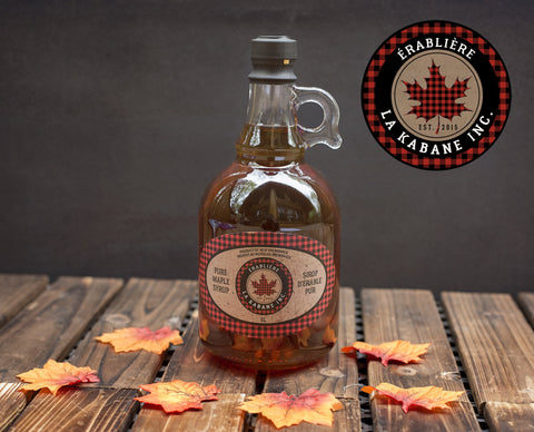 Gallon glass- 1L Organic Maple Syrup