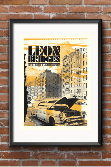 Leon Bridges Screen Print