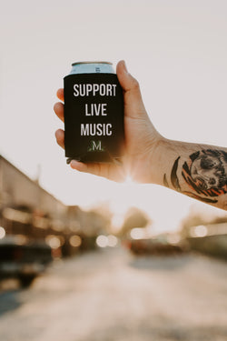 'Support Live Music' Koozie