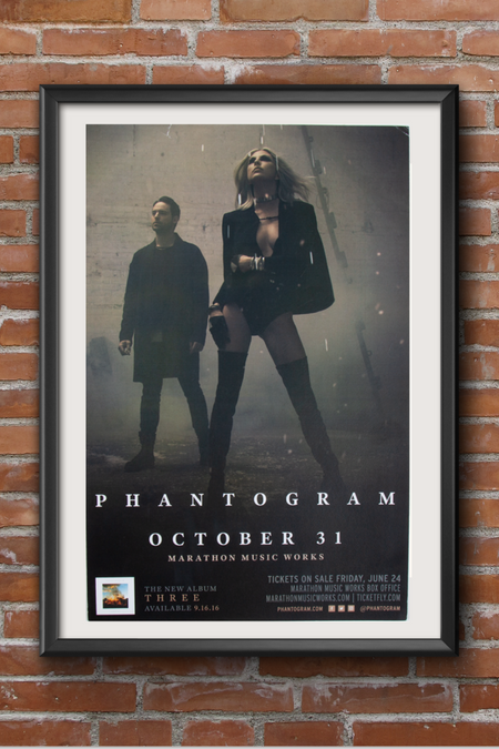 Phantogram Screen Print - October 31, 2016
