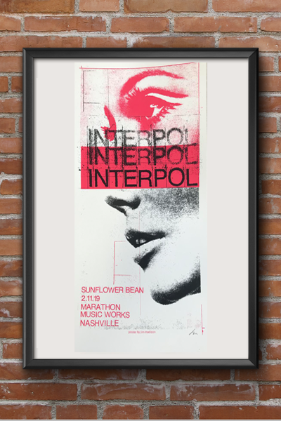 Interpol Screen Print
