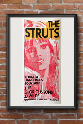 The Struts Screen Print