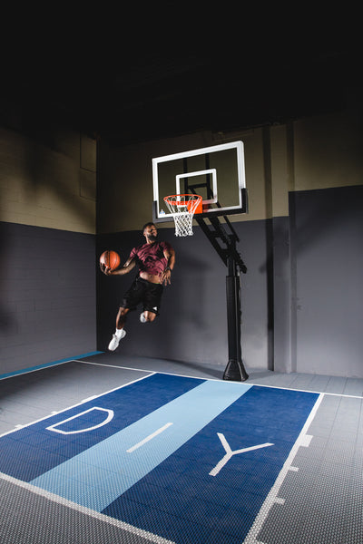 "Basketball Court Kit - Half Court 25'8"" x 25'8"" (H2) - DIY Court Canada"