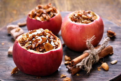 Baked Apple With Pepita Super Green Granola