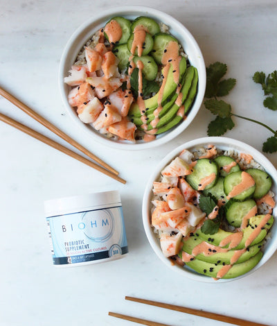 California Sushi Bowls with Brown Rice