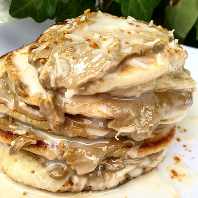 Peanut Butter and Coconut Probiotic Pancakes
