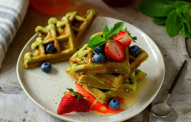 Scrumptious Super Greens Waffles Recipe