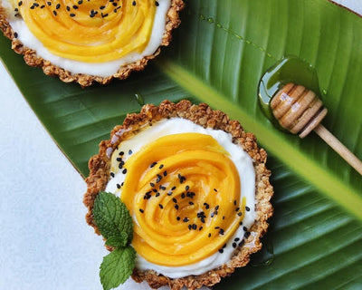 Mango Yogurt Tart Swirls