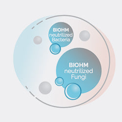 BIOHM <b>neutralizes</b> bad bacteria & fungi hiding in digestive plaque