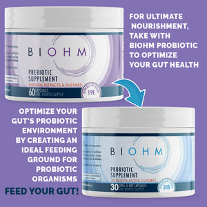 Prebiotic Supplement to take with BIOHM Probiotic