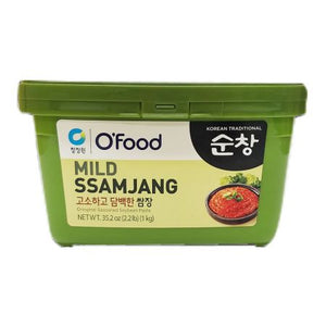 Mild Ssamjang (Original Seasoned Soybean Paste) 2.2lb(1kg), 쌈장, 12-count